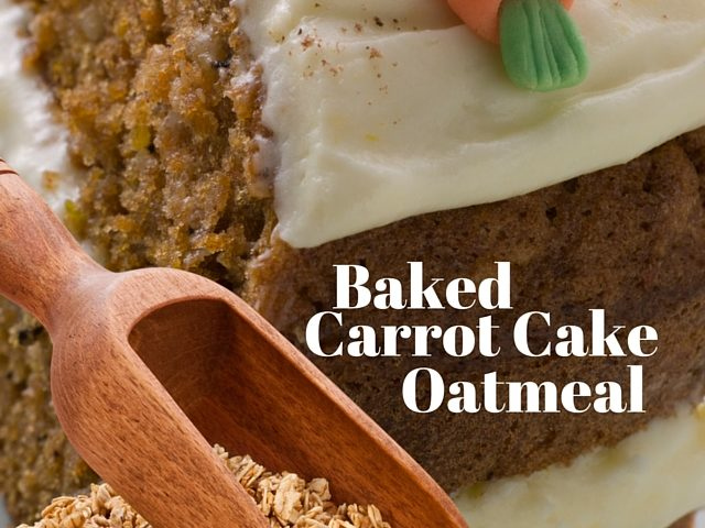 Baked Carrot Cake Oatmeal Recipe