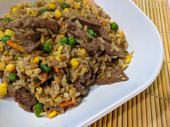 healthy steak fried rice