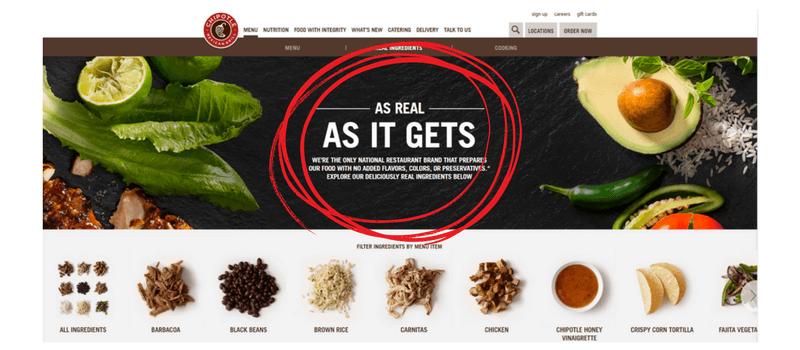 chipotle website