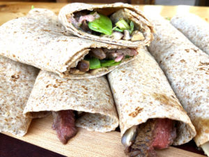 Healthy Teriyaki Steak Wraps