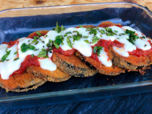 Clean Eating Eggplant Parmesan