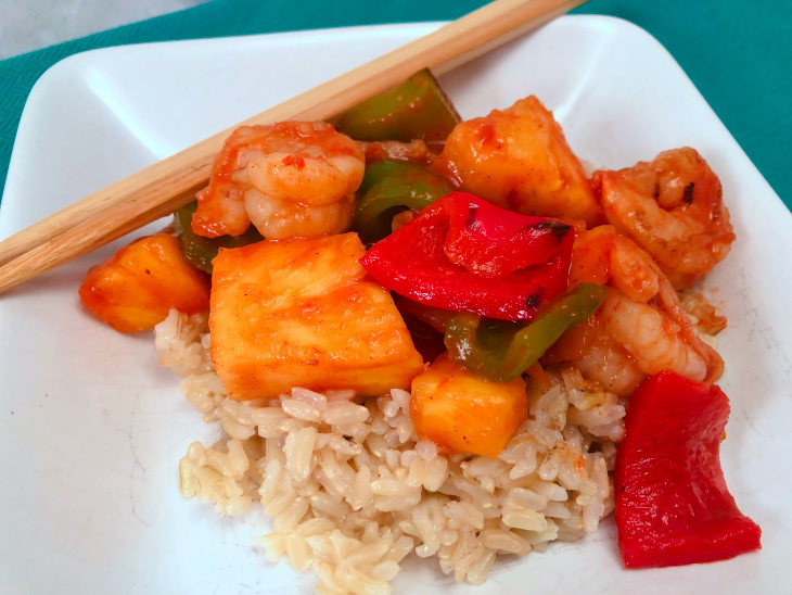healthy Sweet and Sour Shrimp