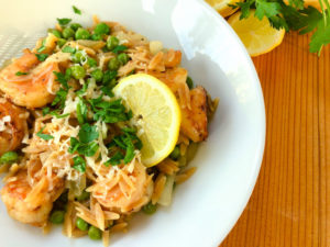 Healthy Shrimp and Orzo Bowls