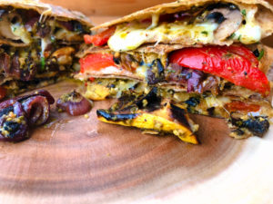 cheesy grilled vegetable quesadillas