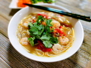 healthy spicy shrimp pho